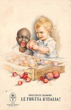 ITALY, PASQUALE MARTELLI FRUIT CO POSTER STYLE ADV PC, CHILDREN IMAGE c. 1904-14