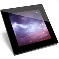 1 x Galaxy Stars Abstract Space Art Glass Coaster - Kitchen Student Gift #13289