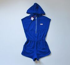 NWT Hunter for Target Blue Zip Front Hooded Short Sleeve Jumper Romper XS