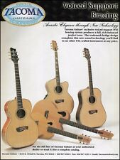 Tacoma USA Acoustic Guitar Voiced Support Bracing  ad 8 x 11 advertisement print
