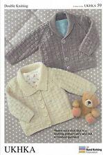 "UKHKA  59 Baby Cardigans. Knitting Pattern In Double Knitting - 16-26"" (41-66cm)"
