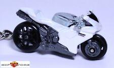 RARE!! KEY CHAIN RING WHITE SUPER BIKE DUCATI 1098/1098R NEW CUSTOM LTD EDITION
