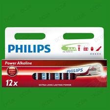 12 x PHILIPS AAA POTENCIA Alcalina Extra Largo duración baterías, LR03, 1.5v V