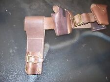 light horse WWI Leather belt,ammo pouches and bayonet frog (reproduction)