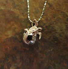Hawaiian Jewelry Copper Baby Turtle in Egg Shell Pendant SP91307