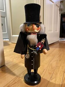 "Vintage Seiffener German Nutcracker 15"" Drosselmeyer from The Nutcracker Suite"