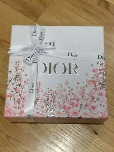 """Christian Dior Limited Edition Floral gift box With Ribbon & tissue 8.5*8.5*4"""""""