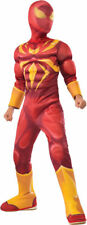Morris Costumes Kids Unisex Iron Spiderman Padded Muscle Jumpsuit L. RU610871LG