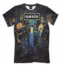 Oasis t-shirt - British rock band Liam Gallagher Noel Britpop All over print mus