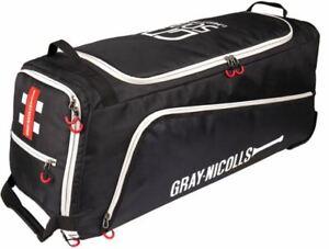 2021 Gray Nicolls GN500 Black Silver Wheelie Cricket Bag Size - 85 x 36 x 34cm