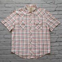 Levis Vintage Clothing LVC Long Horn Western Shirt Vtg Pearl Plaid XL