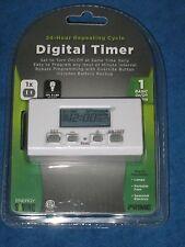 Prime TNID0001 24hr Repeating Cycle Indoor Digital Timer, New!