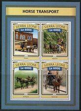 SIERRA LEONE 2016 HORSE TRANSPORT  SHEET  MINT NH