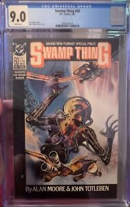 Swamp Thing #60 CGC graded 9.0 Alan Moore Story