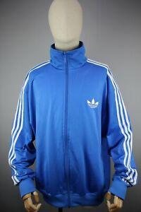 Adidas Originals style 90's Vintage Mens Tracksuit Top Blue Jacket Size XL