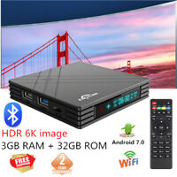 EACHLINK H6 Mini 6K TV Box 3+32GB 2.4G WiFi 100Mbps USB3.0 Bluetooth H.265 Media