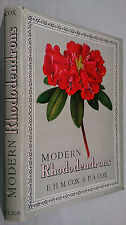 E H M COX & P A COX.MODERN RHODODENDRONS.H/B D/J 1957.B/W-COLOUR ILLUSTRATIONS