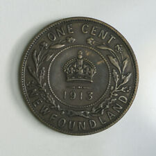 1913 Newfoundland One Cent Coin - King George V
