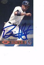 1999 Pacific Brian Hunter Detroit Tigers Authentic Autograph COA