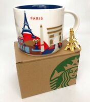 14oz Starbucks Paris You Are Here Coffee Mug Cup YAH NEW in Box with Keychain