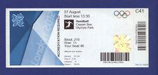 Orig.Ticket  Olympic Games LONDON 2012   HANDBALL  1/4 FINAL  CROATIA - SPAIN !!