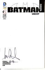 Batman Europa 1 Variant Comicon Uncut Autografata da Casali White Cover Ed Lion