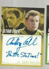 "Anthony Call  A30 Star Trek inscription autograph card ""Battle Stations"""