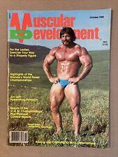 MUSCULAR DEVELOPMENT Bodybuilding Fitness Magazine Powerlifter ROGER ESTEP 10-80