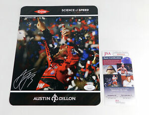 Austin Dillon Signed 8 x 10 Color Racing Photo JSA Auto DA037704
