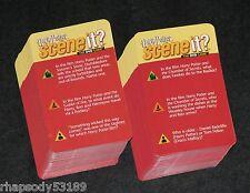 Harry Potter Scene It - Trivia Game Card Set - 2005 Mattel - Game Parts