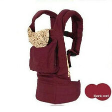 Cotton Front & Back Baby Newborn Carrier Infant Comfort Backpack Sling Wrap Red