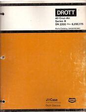 Case 40 Series B Cruz-Air Excavator Parts Manual