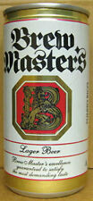 BREW MASTER'S BEER empty 10oz CAN with LION, San Juan, PUERTO RICO