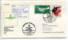 FFC 1973 Lufthansa PRIMO VOLO LH 819 Boeing 737 - Stoccarda Bremen