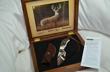 New Browning Russ Kommer Knife Limited Edition Stag Handle 12C27 Walnut Box