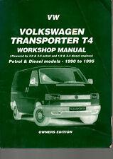 Brooklands Books VW Volkwagen Transporter T4 Workshop Manual 2.0 2.5 1.9 2.4 Lit
