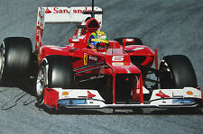 Felipe Massa firmado 12x8, F1 Scuderia Ferrari F2012. prueba Barcelona 2012