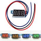 DC 0-100V Panel 3 Wires Digital Voltmeter Ammeter Dual LED Volt Amp Meter Gauge