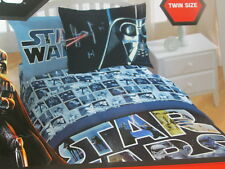 Disney Star Wars Characters Twin Bed Set ~ Comforter, Standard Sham & Sheet Set