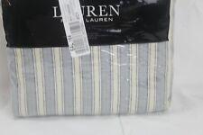 Ralph Lauren Home Graydon Bold Stripe King Duvet Cover Dune/Indigo Cotton $420