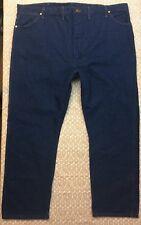 WRANGLER Men's Size 48X30 Dark Wash Denim Blue Jeans 100% Cotton C56