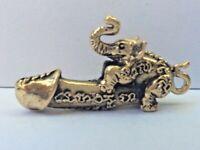 Statuette ZIZI TATOUE ELEPHANT PENDENTI Talisman figurine amulette  Thaïlande z1
