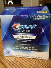 LIMITED STOCK CREST 3D WHITE Whitening Strips No Slip 1 Hour Express 8 Strips