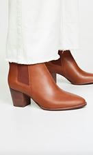 Madewell Baine Block Heeled Booties in English Saddle size 6.5 $178