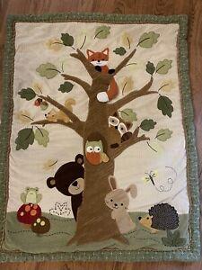 Lambs & Ivy Baby Blanket Crib Quilt Comforter Woodland Forest Animals