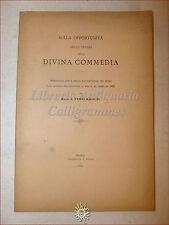 DANTE ALIGHIERI: Ferri Mancini, Opportunità di studio della DIVINA COMMEDIA 1886