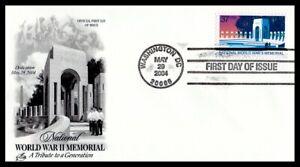 US FDC  # 3862 37c World War II Memorial  ArtCraft  2004, 9g201