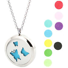 3 Butterfly Premium Aromatherapy Essential Oil Diffuser Locket Necklace Pendant