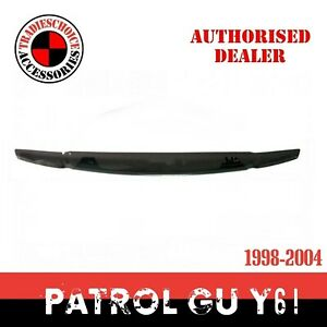 Bonnet Protector to suit Nissan Patrol GU Y61 1998-2004 Black Tinted Guard