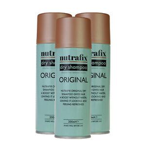 3x Nutrafix Dry Shampoo Original Hold (200ml)